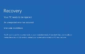 Blue Screen 0xc0000225